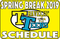 Travelin Teens School Break Camp Logo