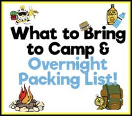 What to bring to Adventure camp